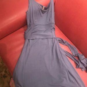Three dots summer wrap dress